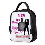 Shoot Like A Girl Neoprene Lunch Bag
