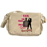Shoot Like A Girl Messenger Bag