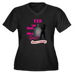 Shoot Like A Women's Plus Size V-Neck Dark T-Shirt