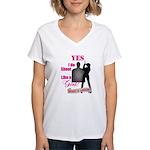 Shoot Like A Girl Women's V-Neck T-Shirt
