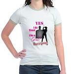 Shoot Like A Girl Jr. Ringer T-Shirt