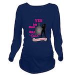 Shoot Like A Girl Long Sleeve Maternity T-Shirt