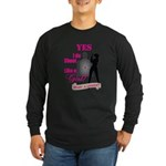 Shoot Like A Girl Long Sleeve Dark T-Shirt