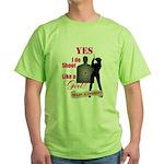 Shoot Like A Girl Green T-Shirt