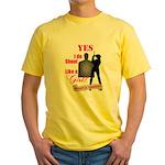 Shoot Like A Girl Yellow T-Shirt