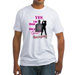Shoot Like A Girl Fitted T-Shirt