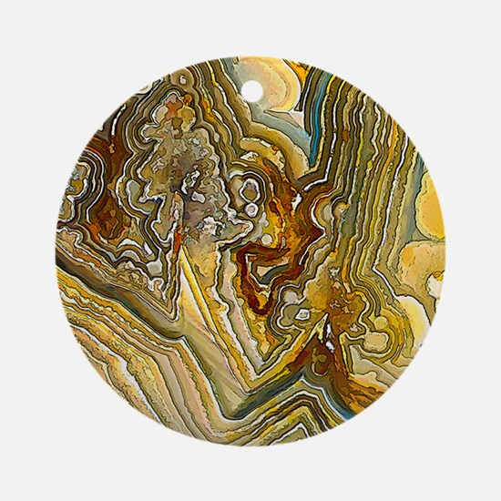 Fantasy Crazy Lace Agate Ornament (Round)