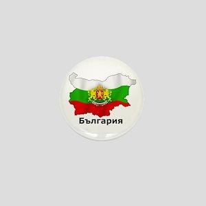 Bulgaria flag map Mini Button