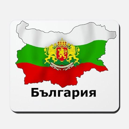 Bulgaria flag map Mousepad