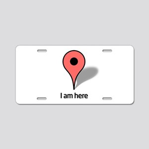 Google Map marker Aluminum License Plate
