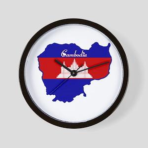 Cool Cambodia Wall Clock