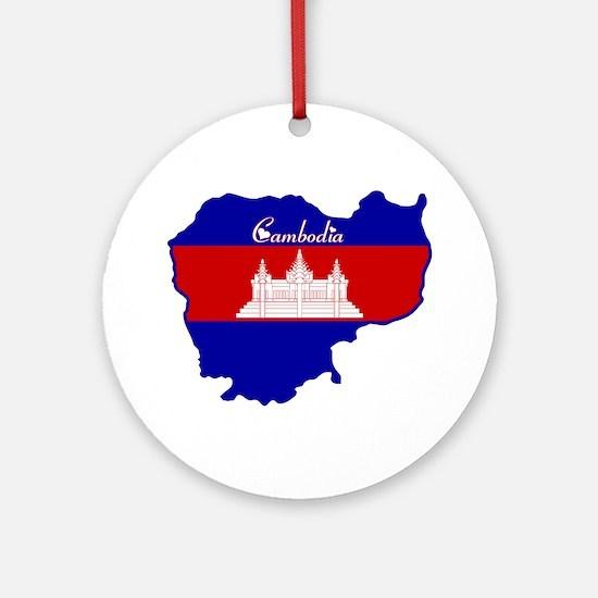 Cool Cambodia Ornament (Round)