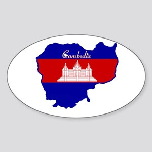 Cool Cambodia Oval Sticker