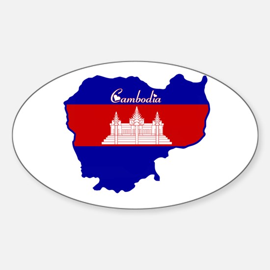 Cool Cambodia Oval Decal