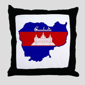 Cool Cambodia Throw Pillow