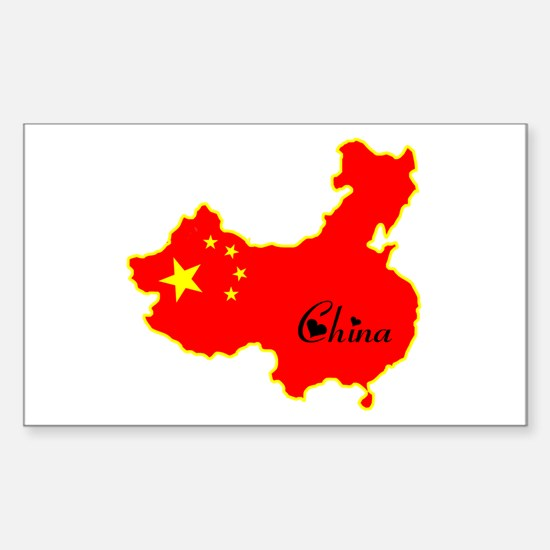 Cool China Rectangle Decal