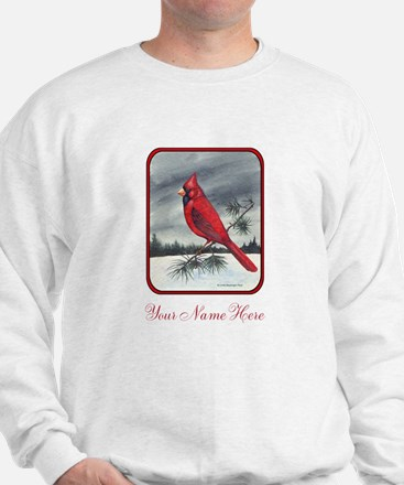 Cardinal on Pine Sweatshirt