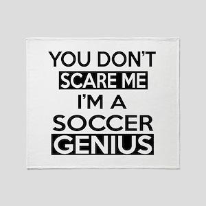 I Am Soccer Genius Throw Blanket