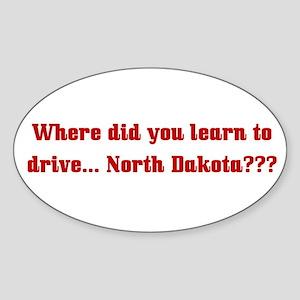 Drive North Dakota Oval Sticker