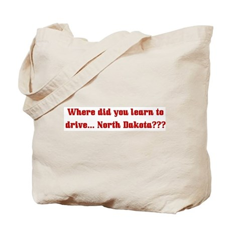Drive North Dakota Tote Bag