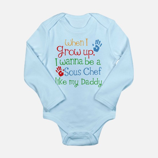 Sous Chef Like Daddy Long Sleeve Infant Bodysuit