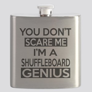 I Am Shuffleboard Genius Flask