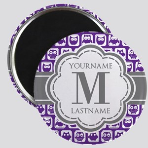 Purple Owl Personalized Magnet