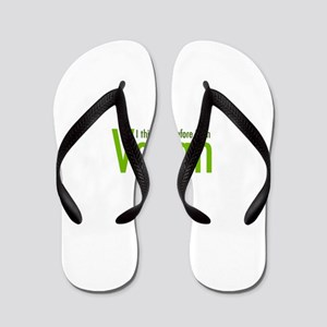 I think. Therefore I am Vegan Flip Flops