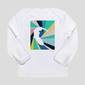 Abstract Surf Long Sleeve T-Shirt