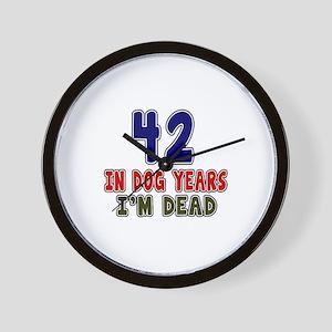 Funny 42 Years Birthday Designs Wall Clock