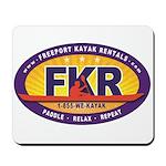 FKR Color Oval Logo Mousepad