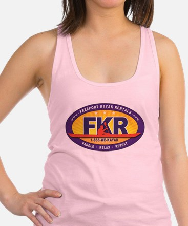 FKR Color Oval Logo Racerback Tank Top