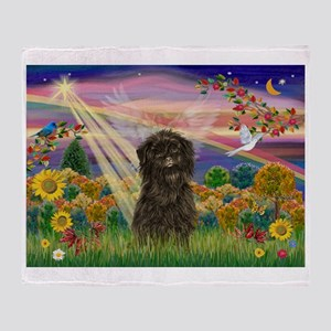 Autumn Angel /Affenpinscher Throw Blanket
