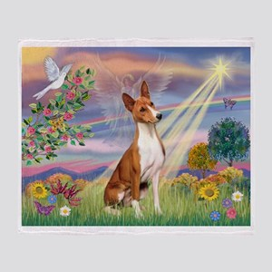 Cloud Angel & Basenji Throw Blanket