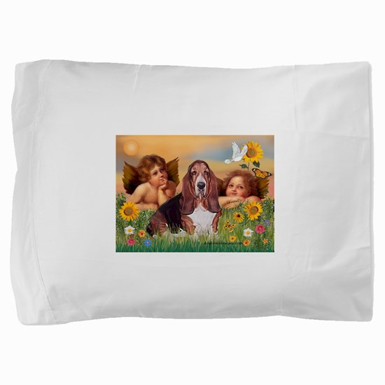 Angels & Basset Pillow Sham