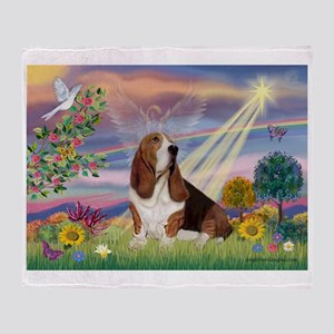 Cloud Angel & Basset Throw Blanket