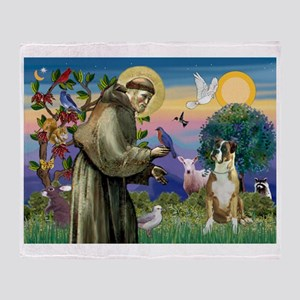 Saint Francis & Boxer Throw Blanket