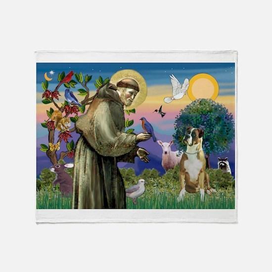 Saint Francis & Boxer Throw Blanket