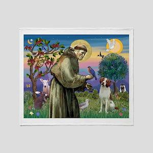 St Francis / American Brittan Throw Blanket
