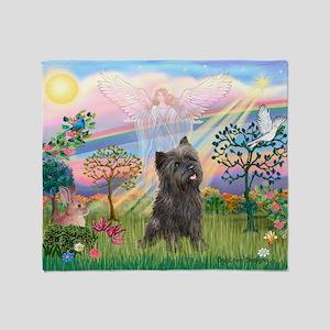 Cloud Angel 2 / Cairn Terrier Throw Blanket