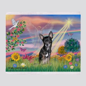Cloud Angel / Chihuahua (bl) Throw Blanket