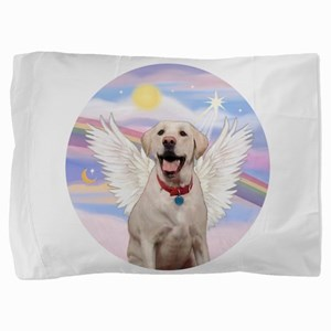 Yellow Labrador Angel Pillow Sham
