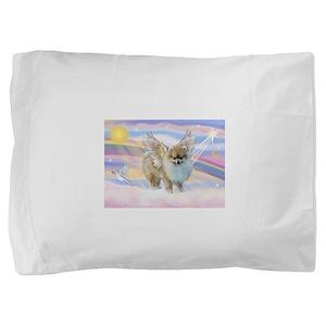 Pomeranian / Angl (s&w) Pillow Sham