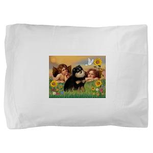 Cherubs /Pomeranian (b&t) Pillow Sham