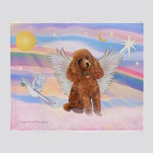 Angel/Poodle (Aprict Toy/Min) Throw Blanket