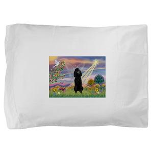 Cloud Angel /Poodle Std (blk) Pillow Sham