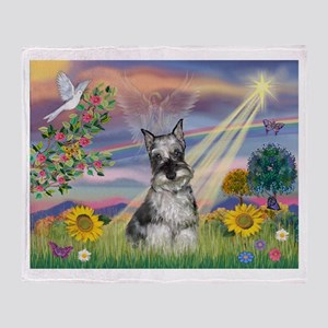 Cloud Angel / Min Schnauzer ( Throw Blanket