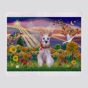 Autumn Angel Schnauzer Throw Blanket