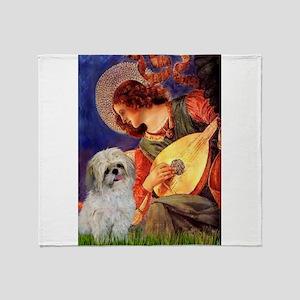 Mandolin Angel /Shih Tzu Throw Blanket