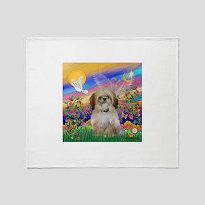 Cloud Angel / Shih Tzu Throw Blanket